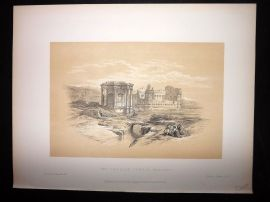David Roberts Holy Land 4to 1887 Print. The Circular Temple. Baalbek Lebanon